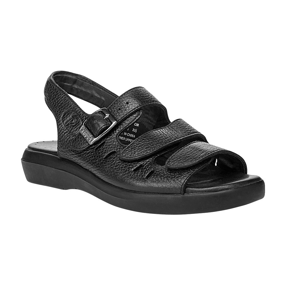 8430fe954c8fc7 ... Breeze Leather Sandals Black Size-S-10H. Zoom