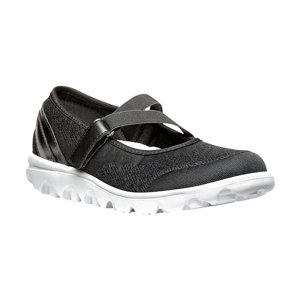 Black Fabric Mary Jane Style Shoes