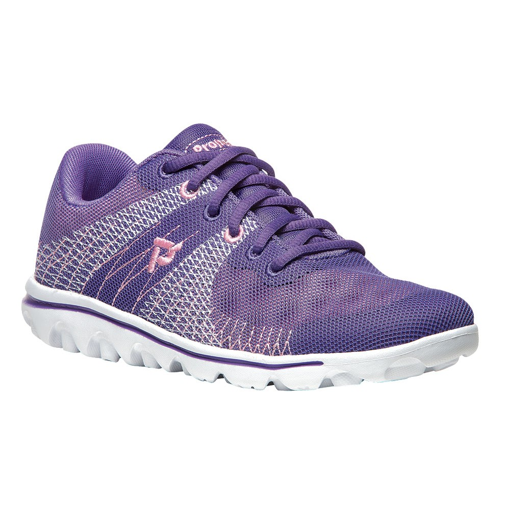 Propet Womens Travelactiv Knit Manmade Shoes