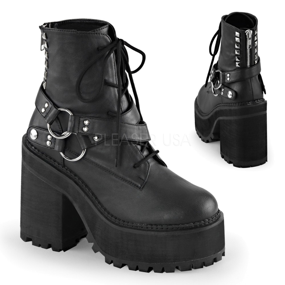 Demonia - Womens ASSAULT-101 Vegan Boots