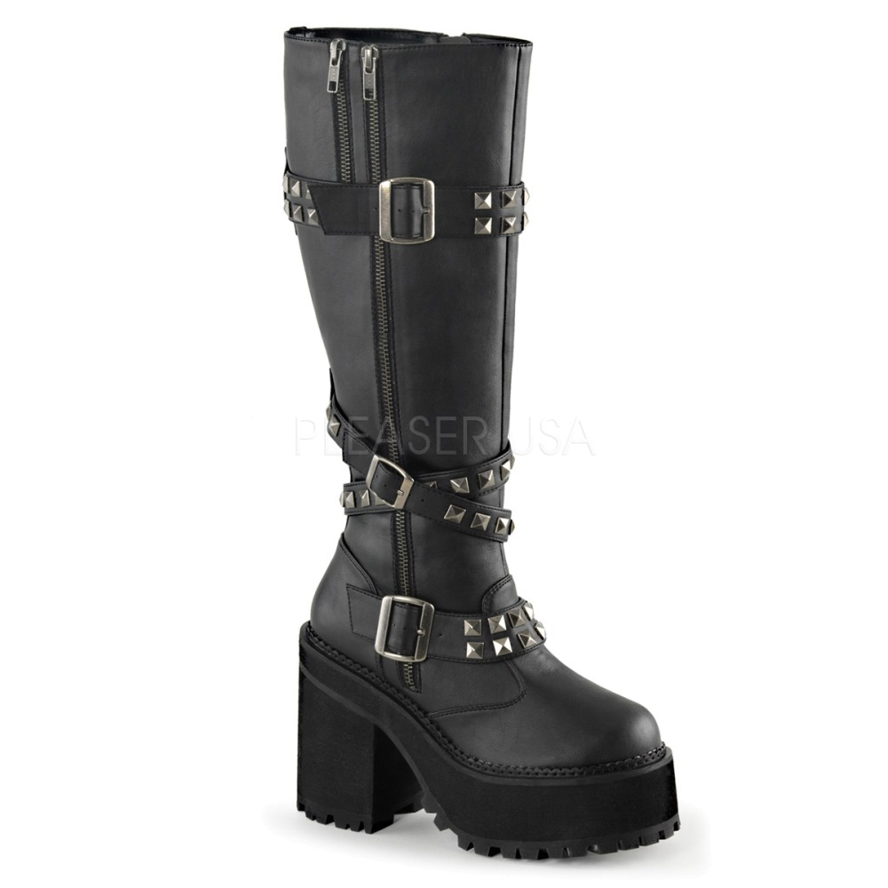 Demonia - Womens ASSAULT-203 Vegan Boots