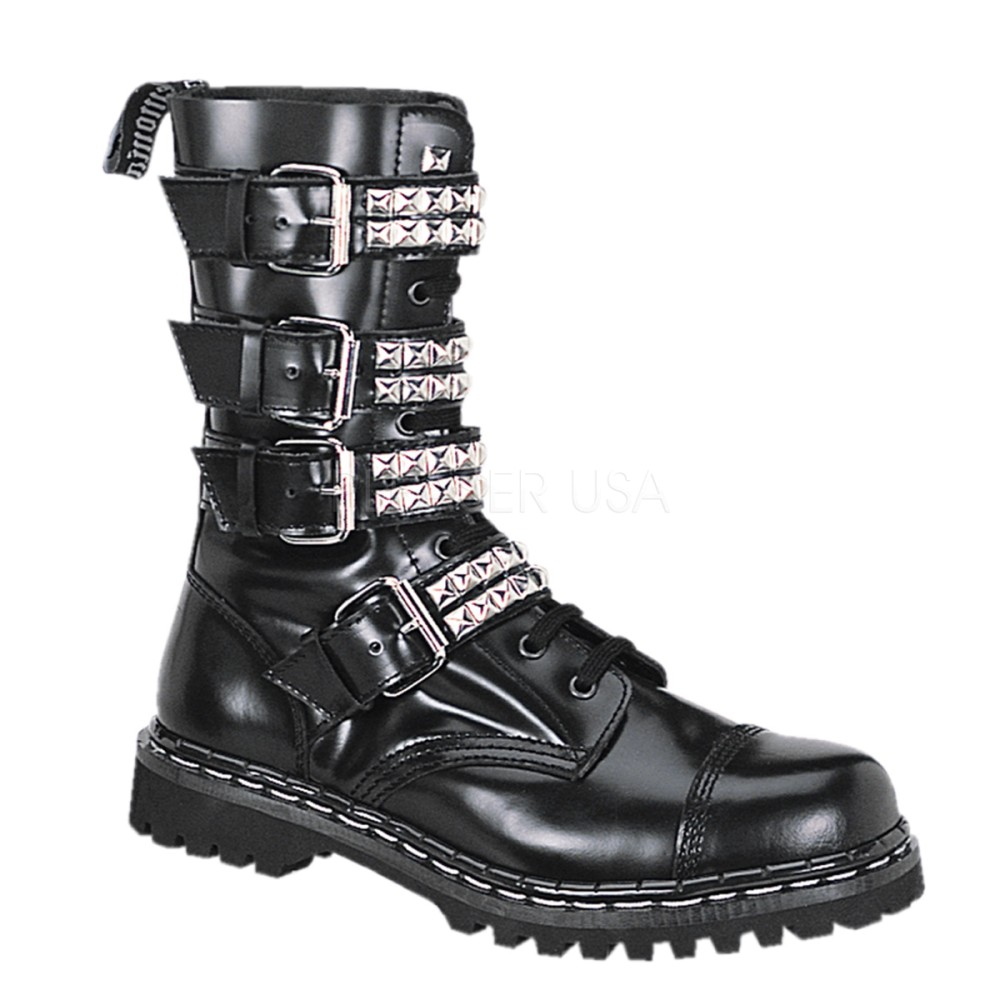 Demonia - Womens GRAVEL-10S Leather Shoes & Boots