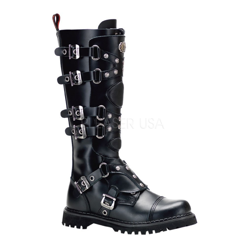 Demonia - Mens GRAVEL-22 Leather Shoes & Boots