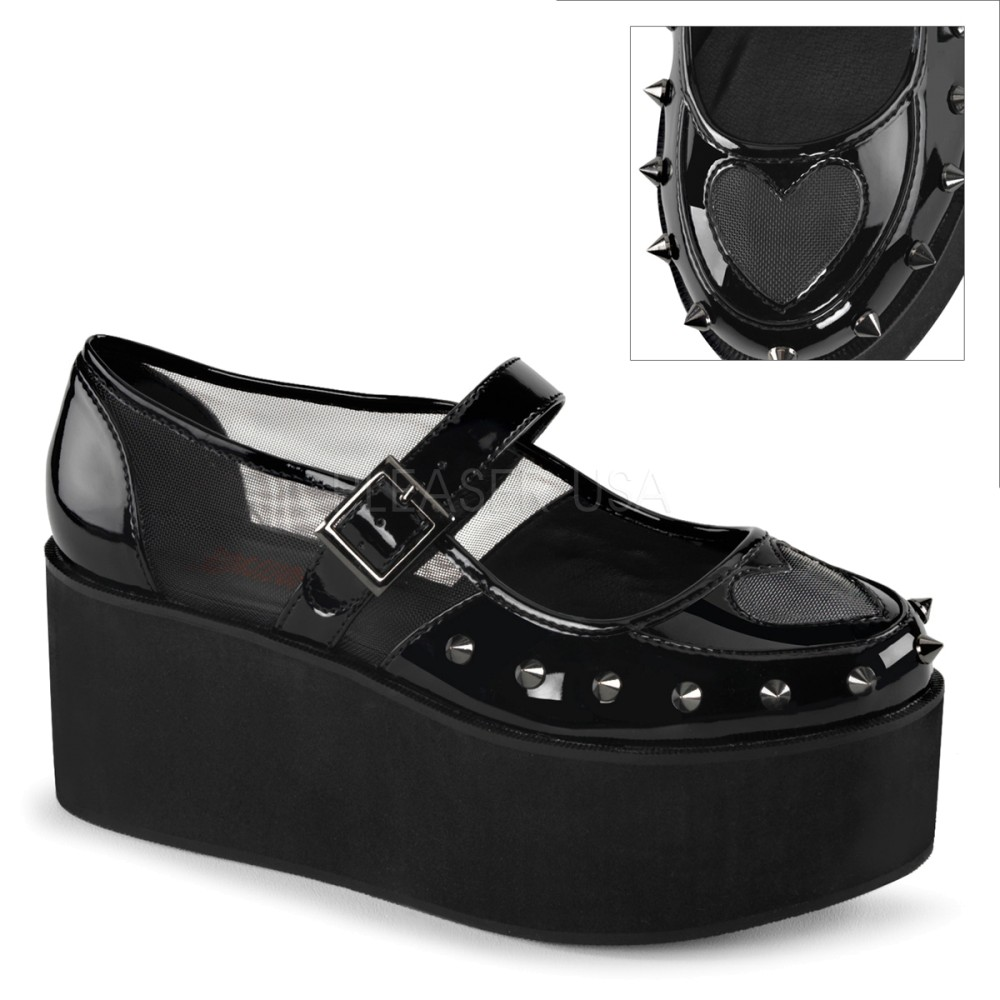 Demonia - Womens GRIP-01 Platform Sandals & Shoes