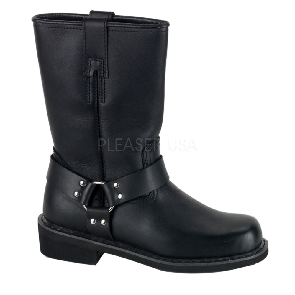 Demonia - Mens HARNESS BOOT Leather Shoes & Boots