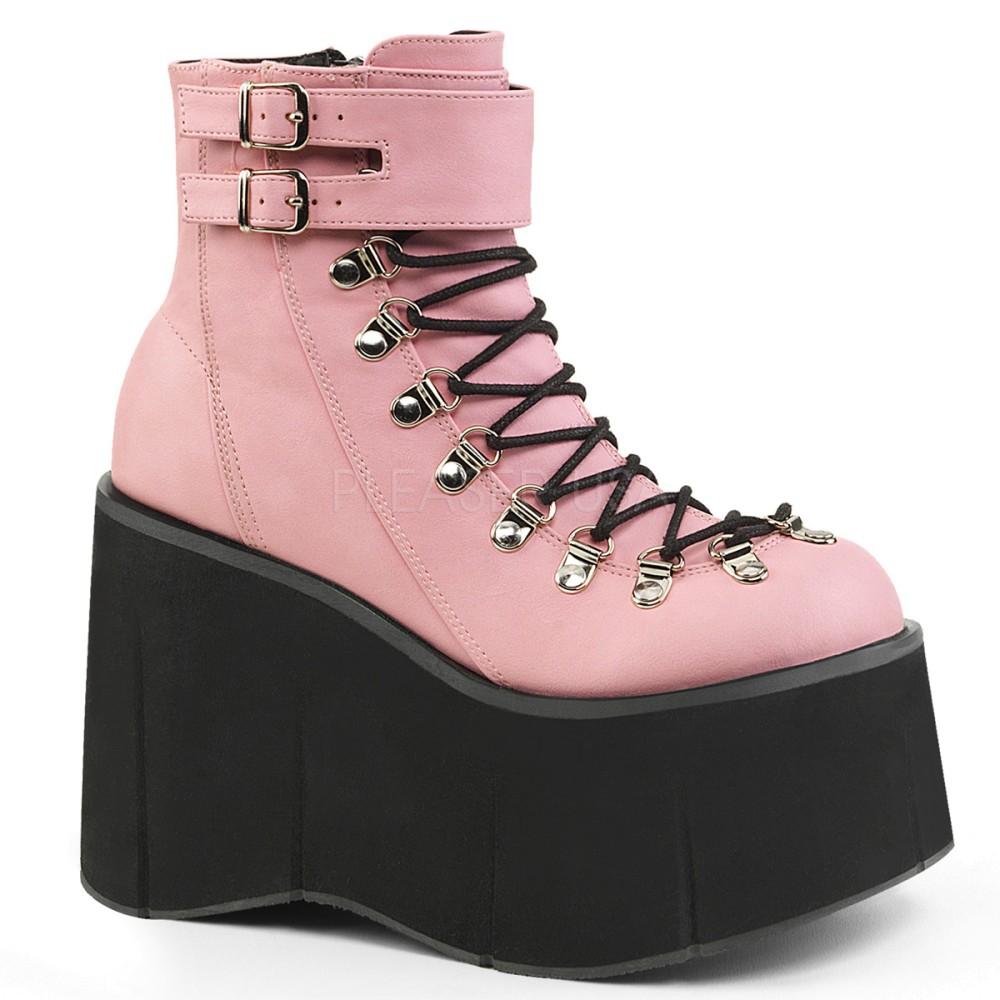 1ad45492653f Demonia - Womens KERA-21 Platform Sandals   Shoes B. Pink Vegan Leather