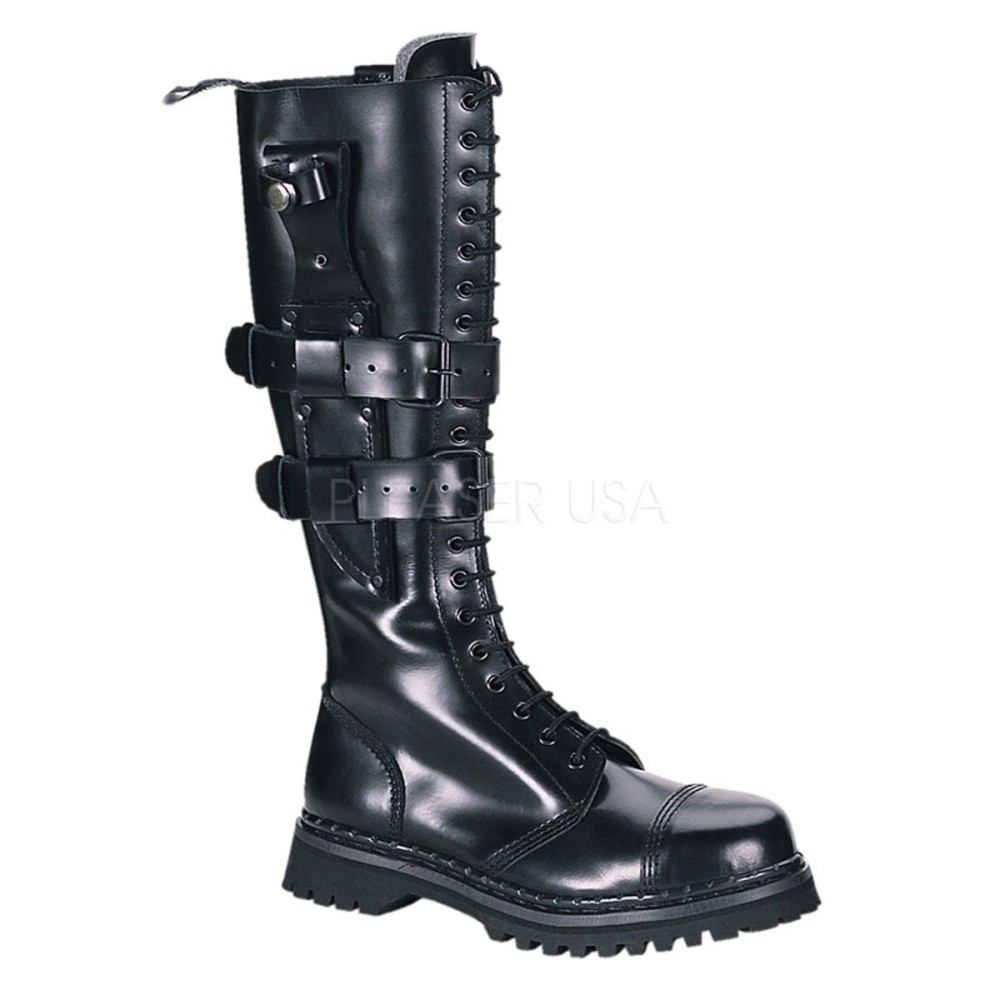 Demonia - Mens PREDATOR-I Leather Shoes & Boots