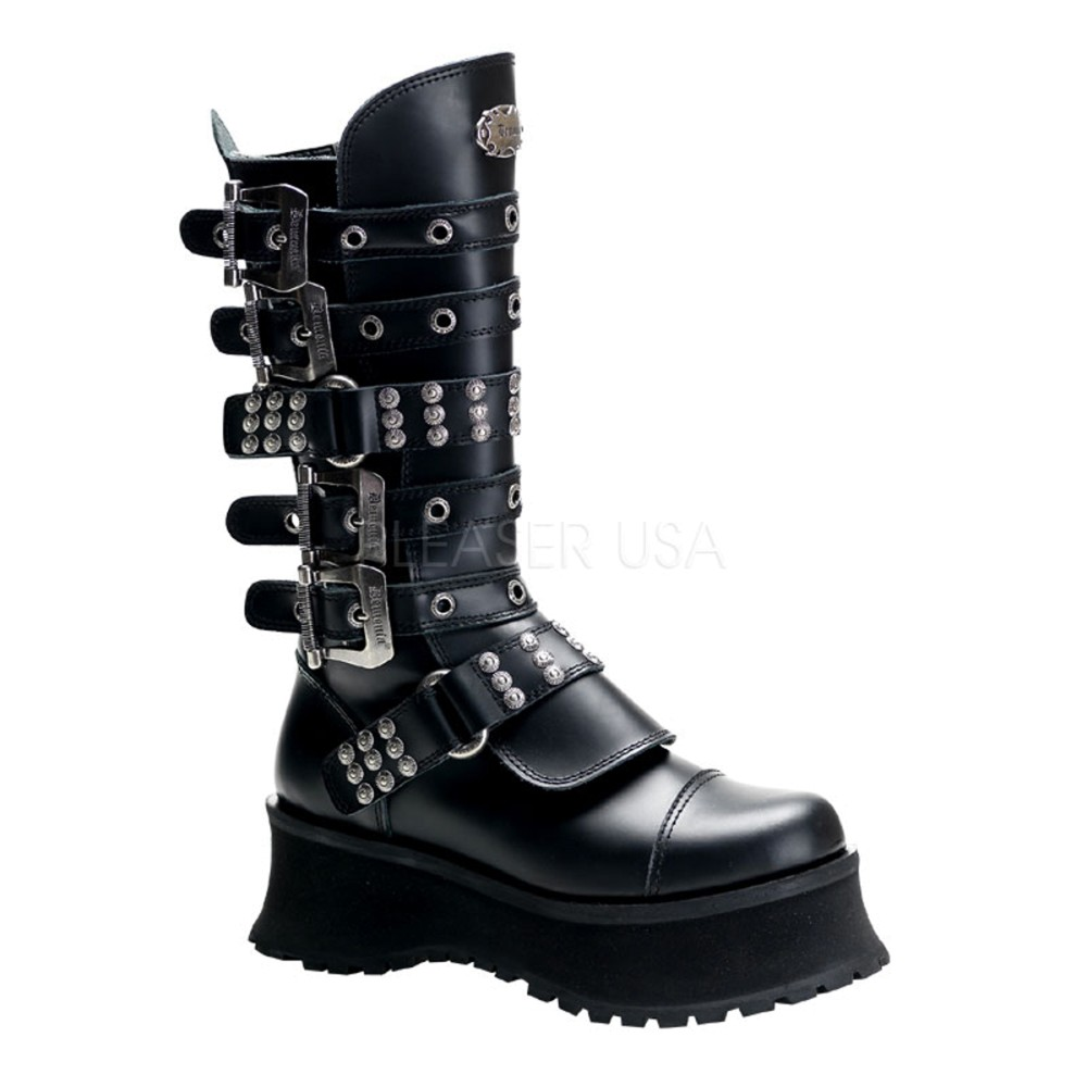 Demonia - Mens RAVAGE-302 Leather Shoes & Boots