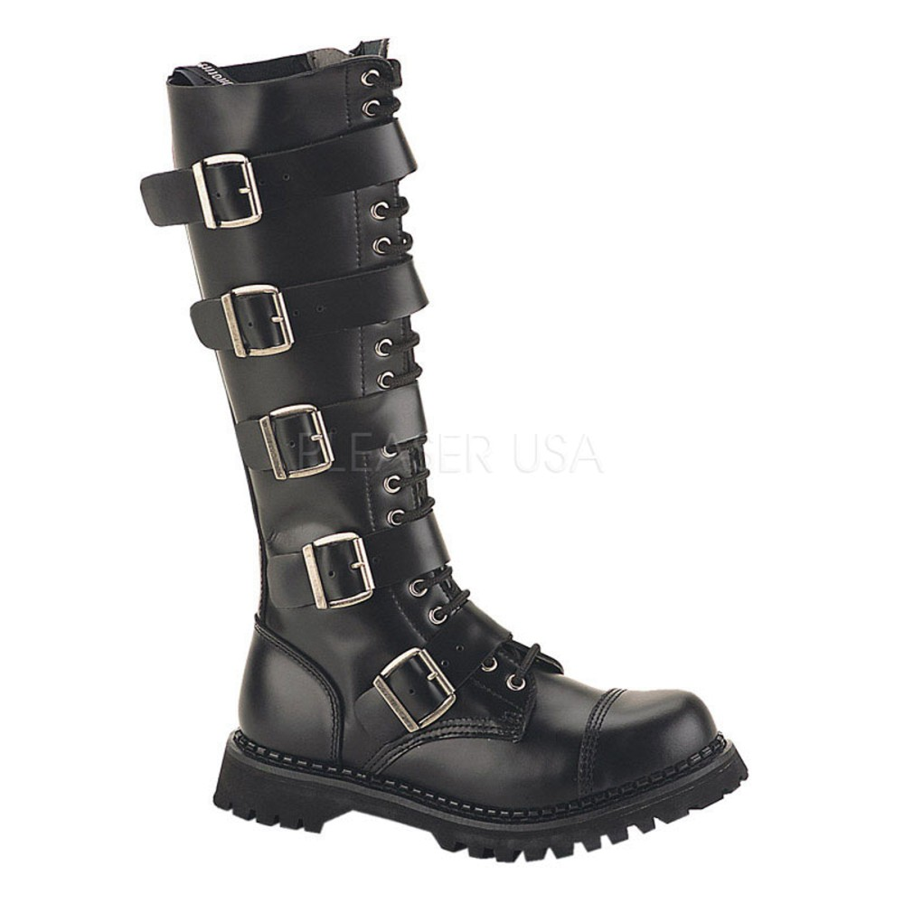 Demonia - Mens RIOT-20 Leather Shoes & Boots