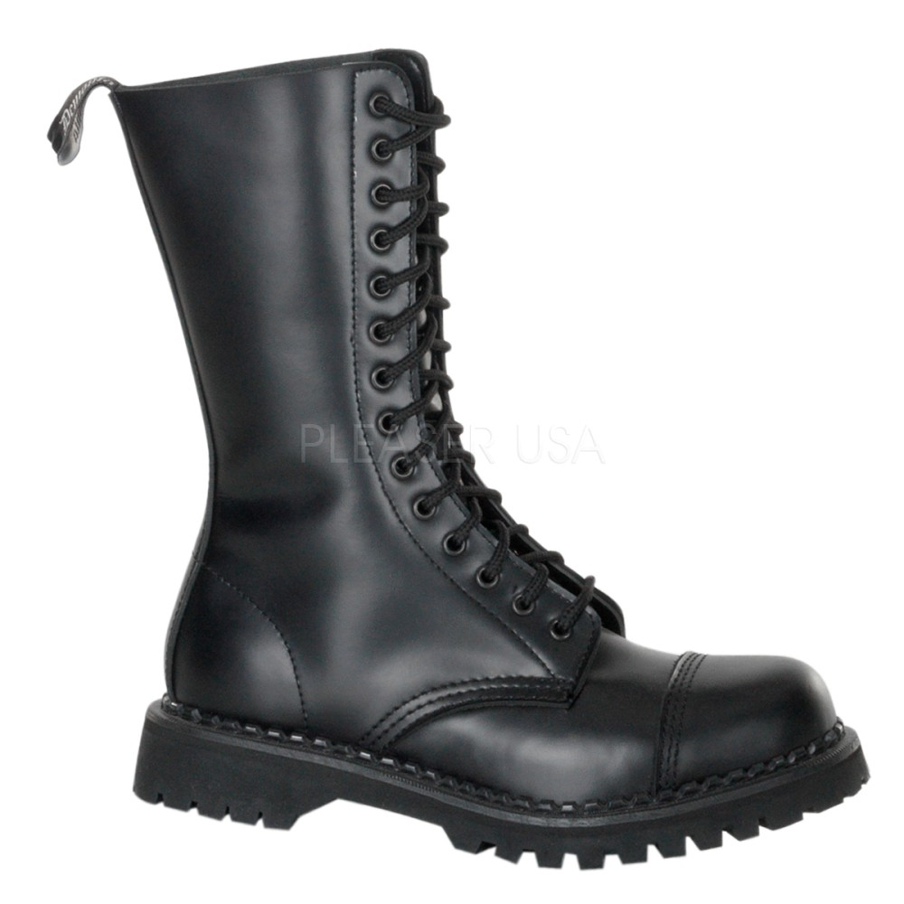 Demonia - Mens ROCKY-14 Leather Shoes & Boots