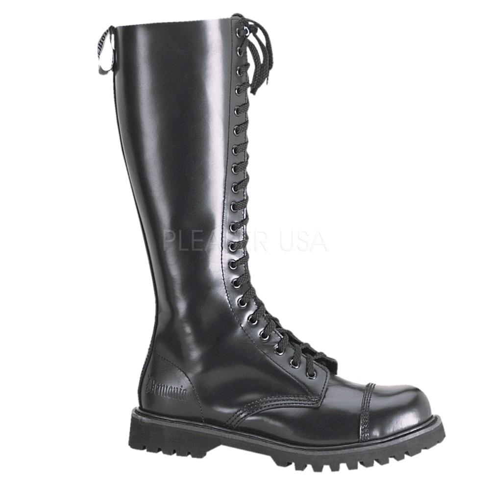 Demonia - Mens ROCKY-20 Leather Shoes & Boots