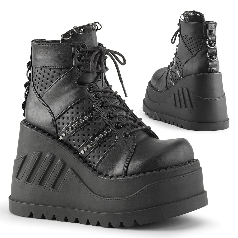 Demonia - Womens STOMP-12 Vegan Boots