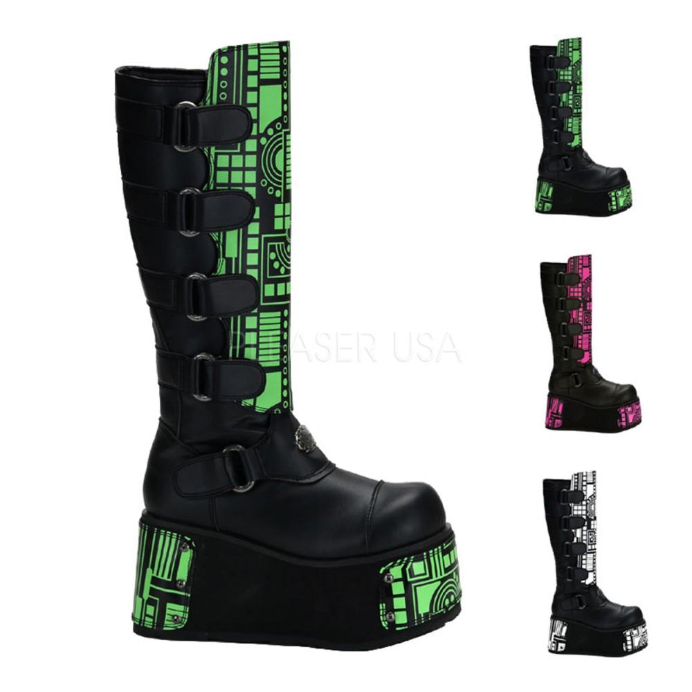 Demonia - Womens TECHNO-850UV UV Reactive/Cyber