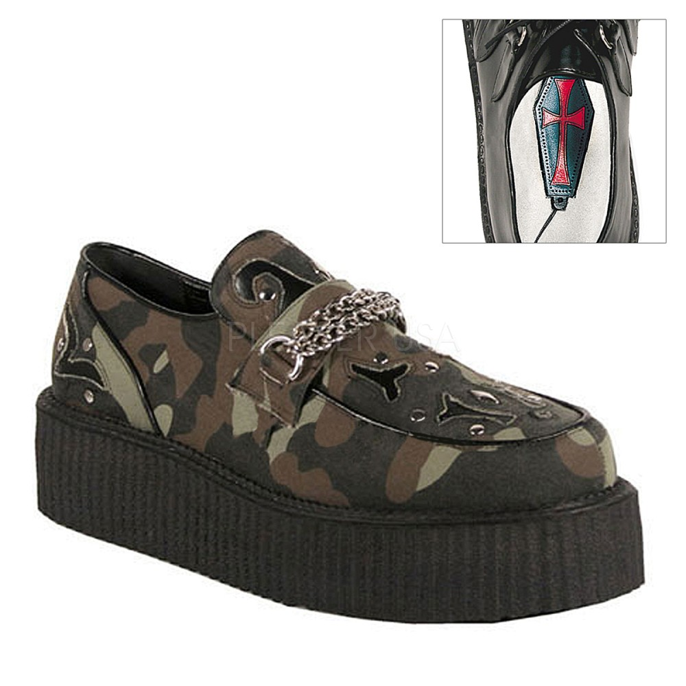 Demonia - Mens V-CREEPER-509 Creepers