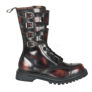 Demonia - Womens ATTACK-10 Leather Shoes & Boots