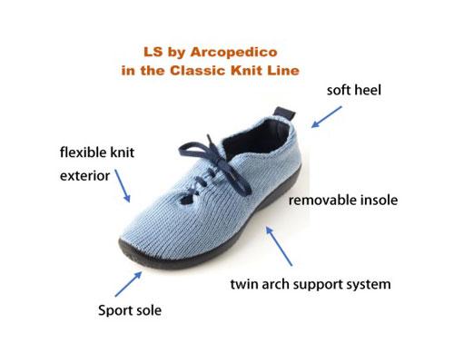 arcopedico classic knit line ls image
